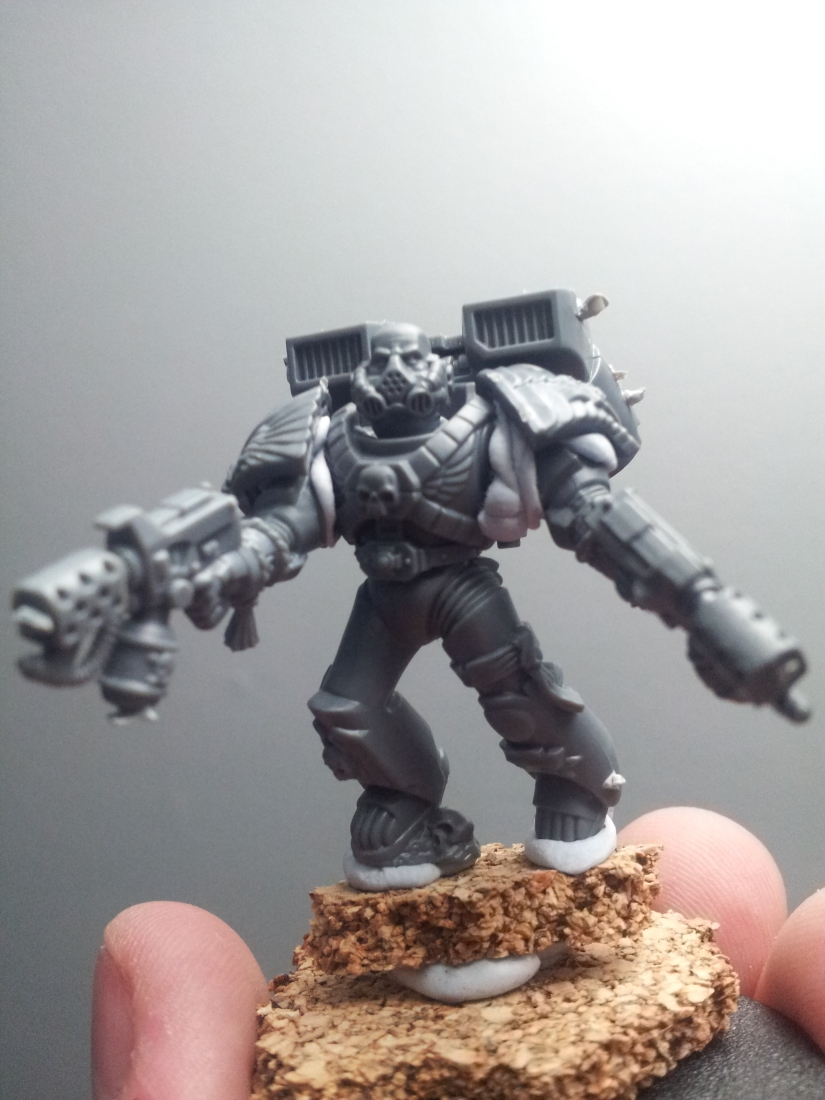 Modeling – Brother-Sergeant Pyrrus of the Clan Khorvaak 1st Assault Mock-Up