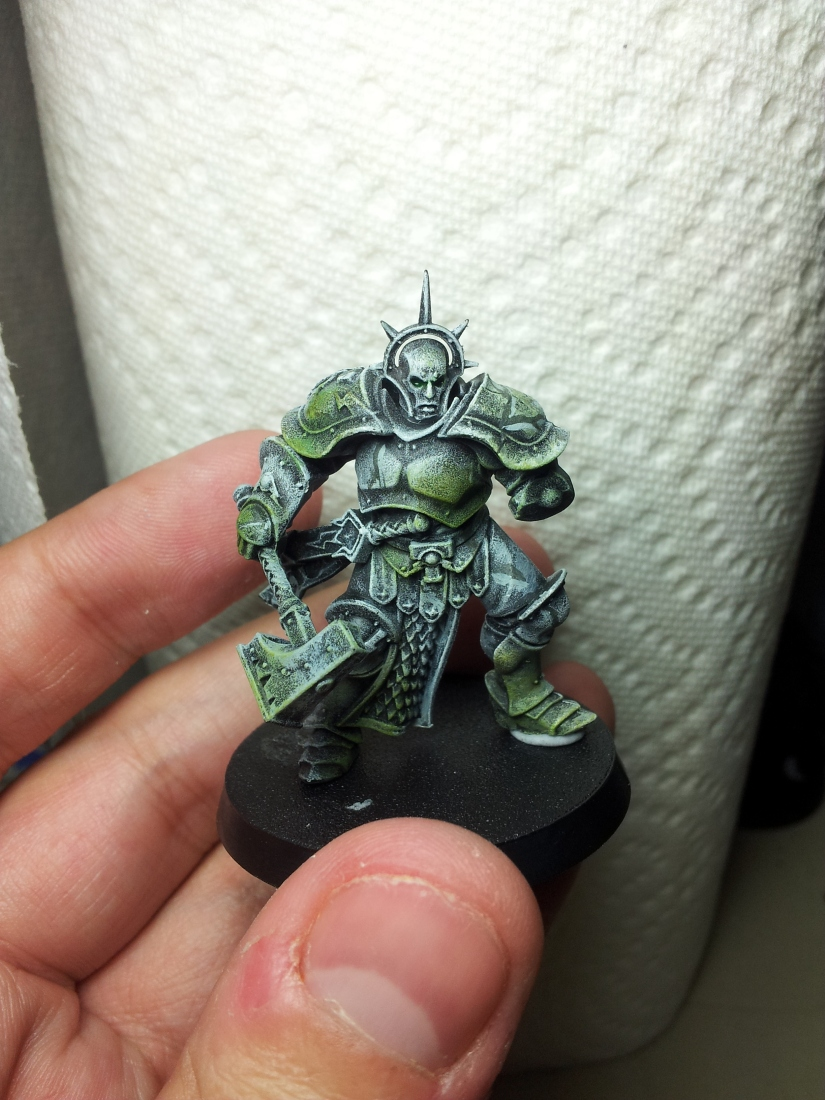 Painting – Emerald Canticle – Silent Son WIP